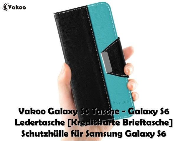 Vakoo Galaxy S6 Tasche - Galaxy S6Vakoo Galaxy S6 Tasche - Galaxy S6 Ledertasche [Kreditkarte Brieftasche]Ledertasche [Kre...
