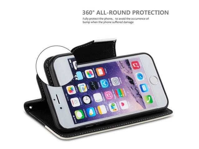 Diese Schutztasche aus Kunstleder schützt das iPhone 6/6S von allen Seiten und ist im Business-Look gehalten. Durch den in...