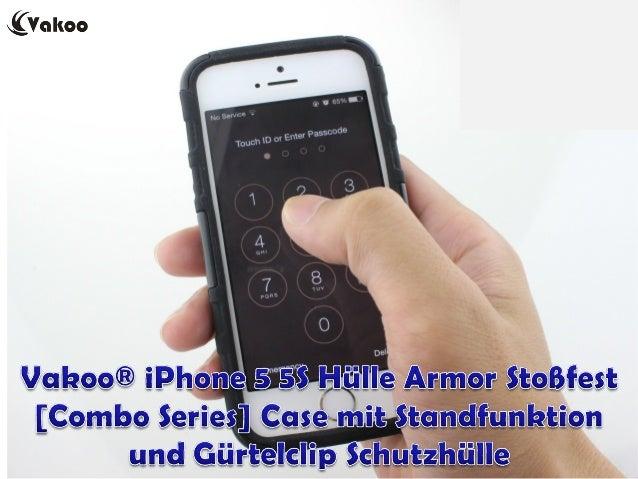 Vakoo® iPhone 5 5S Hülle Armor Stoßfest [Combo Series] Case mit Standfunktion und Gürtelclip Schutzhülle EUR 11,99 http://...