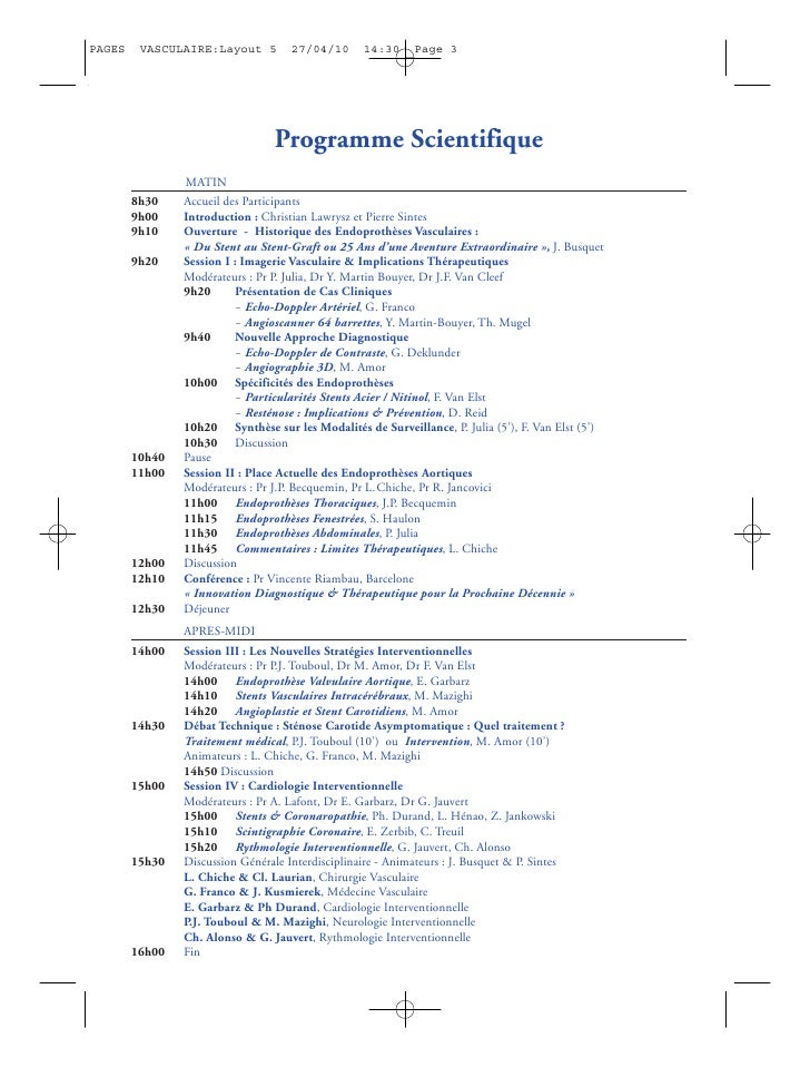 PAGES    VASCULAIRE:Layout 5         27/04/10      14:30      Page 3                                       Programme Scien...