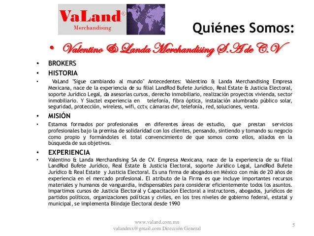 valentino y landa merchandising sa de cv es una empresa 100  mexicana u2026