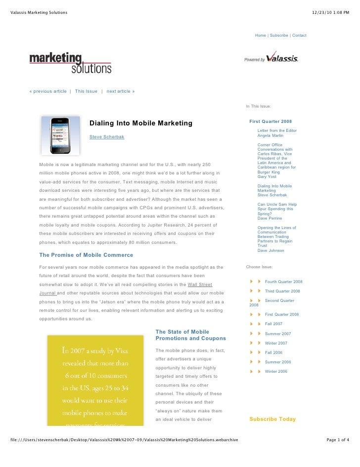 Valassis Marketing Solutions                                                                                              ...