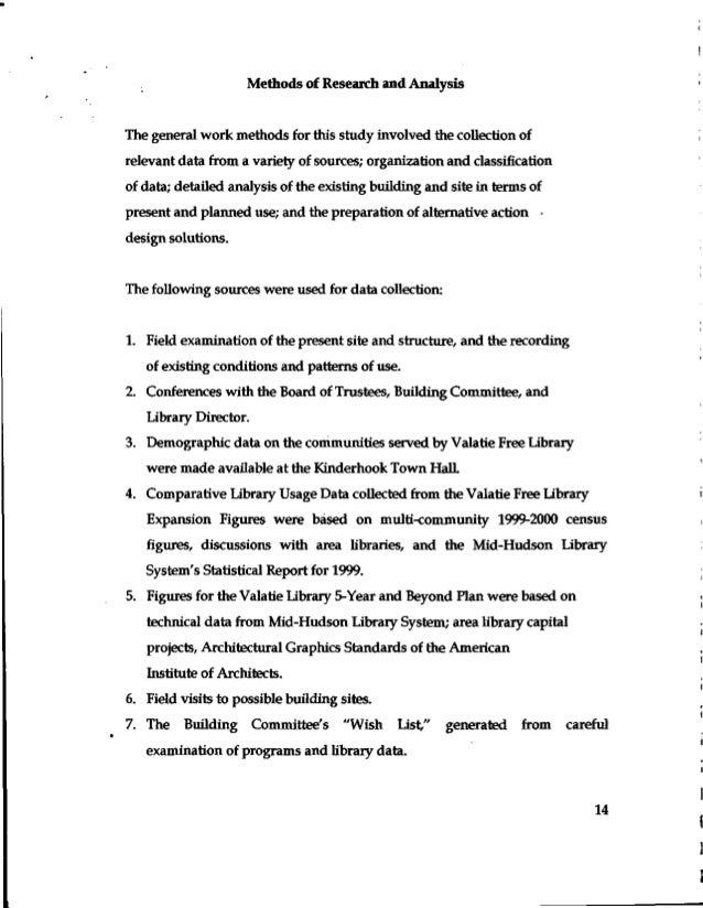 Valatie Free Library 2001 Feasibility Study for a New Library