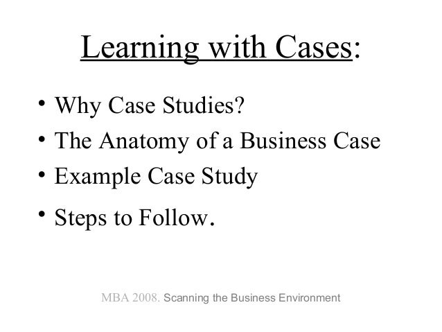 the harvard business case study methodology