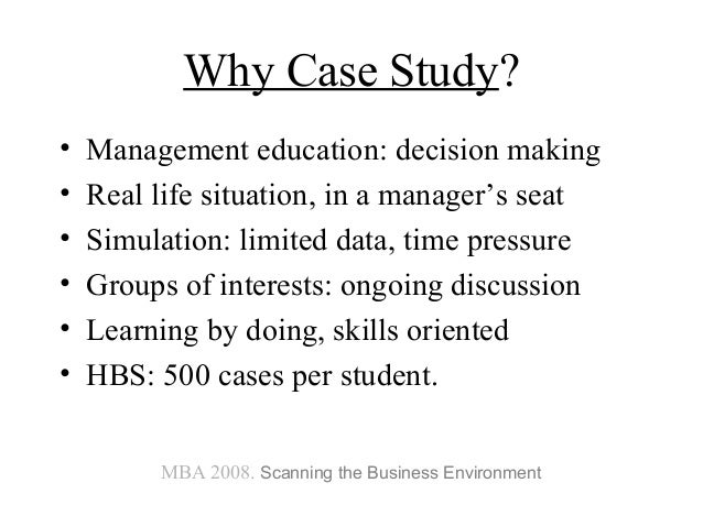 Case Studies for MBA
