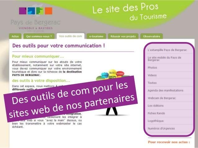 DU CÔTÉ DE NOS PRESTATAIRES 1 exemple de site créé suite à nos ateliers avec une bonne utilisation des outils présentés (s...