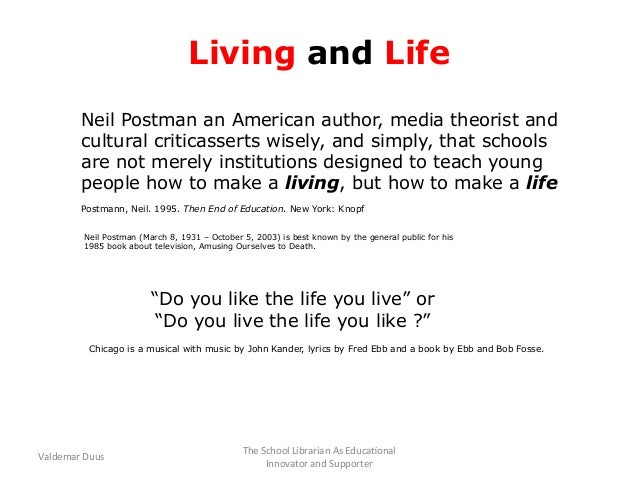 amusing ourselves to death thesis Neil postman's amusing ourselves to death approach and requirements your essay should synthesize the information provided in at least three articles.