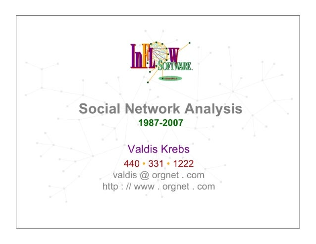 Valdis Krebs - Social network analysis: 1987-2007