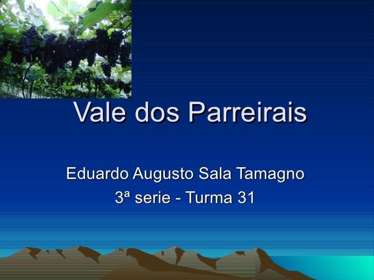 Vale dos Parreirais Eduardo Augusto Sala Tamagno 3ª serie - Turma 31