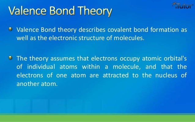 VALENCE BOND THEORY PPT TO EBOOK DOWNLOAD