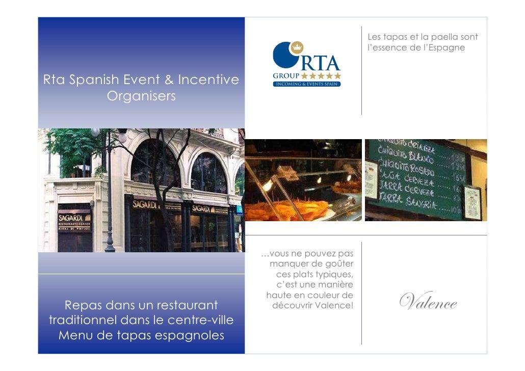 Les tapas et la paella sont                                                             l'essence de l'EspagneRta Spanish ...