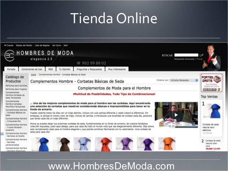 Tienda Online                            www.HombresDeModa.com