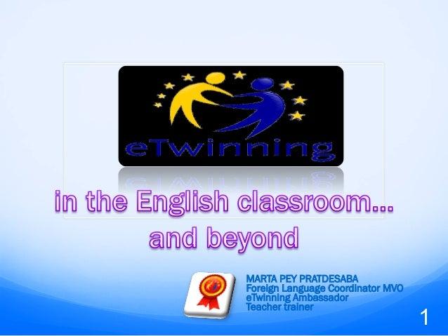 MARTA PEY PRATDESABA Foreign Language Coordinator MVO eTwinning Ambassador Teacher trainer 1