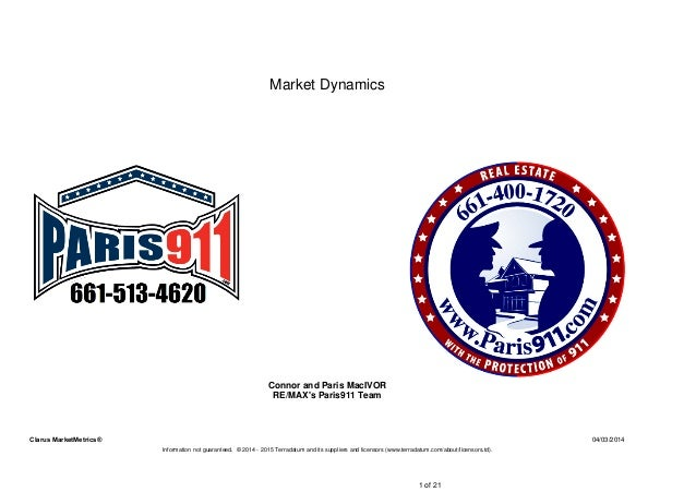 04/03/2014Clarus MarketMetrics® Information not guaranteed. © 2014 - 2015 Terradatum and its suppliers and licensors (www....