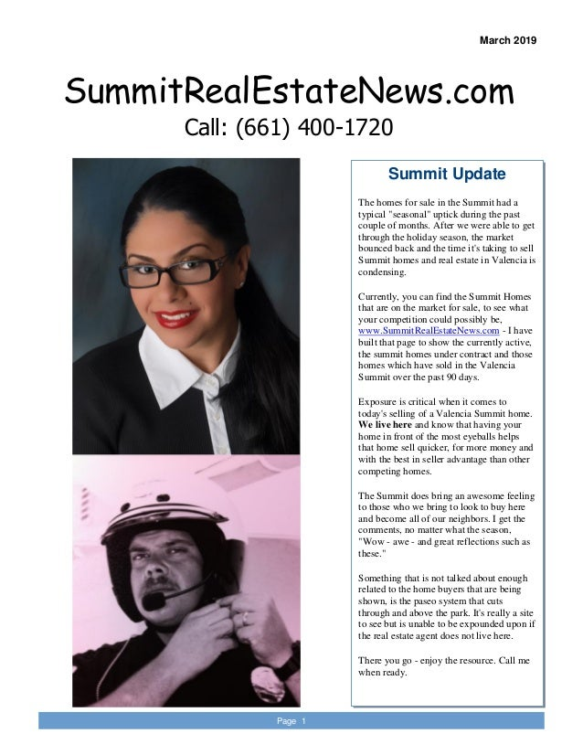 """Summit Update The homes for sale in the Summit had a typical """"seasonal"""" uptick during the past couple of months. After we ..."""