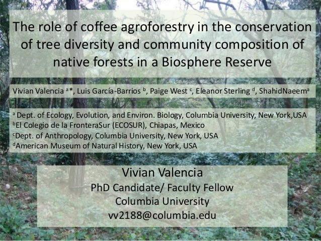 The role of coffee agroforestry in the conservation of tree diversity and community composition of native forests in a Bio...