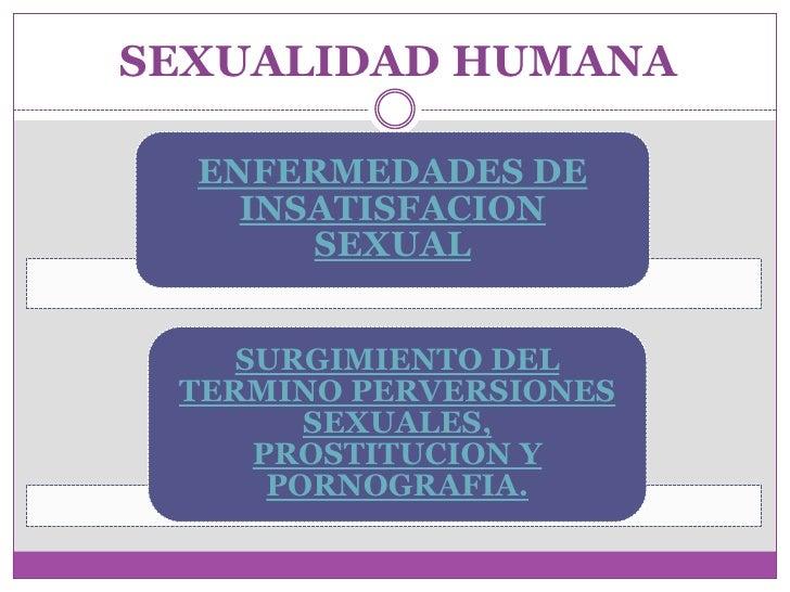 SEXUALIDAD HUMANA    ENFERMEDADES DE     INSATISFACION        SEXUAL       SURGIMIENTO DEL  TERMINO PERVERSIONES         S...
