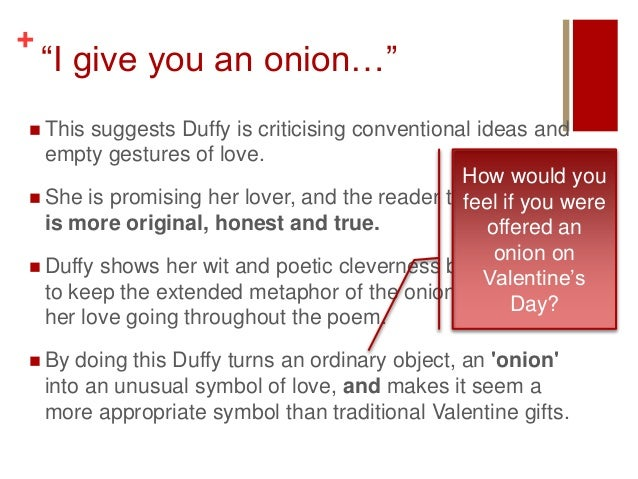 valentine poem carol ann duffy summary