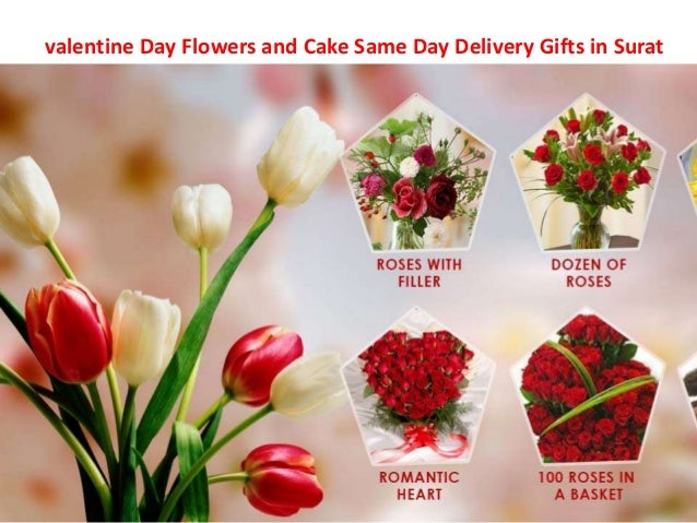 valentine day flowers and cake same day delivery gifts in surat, Ideas