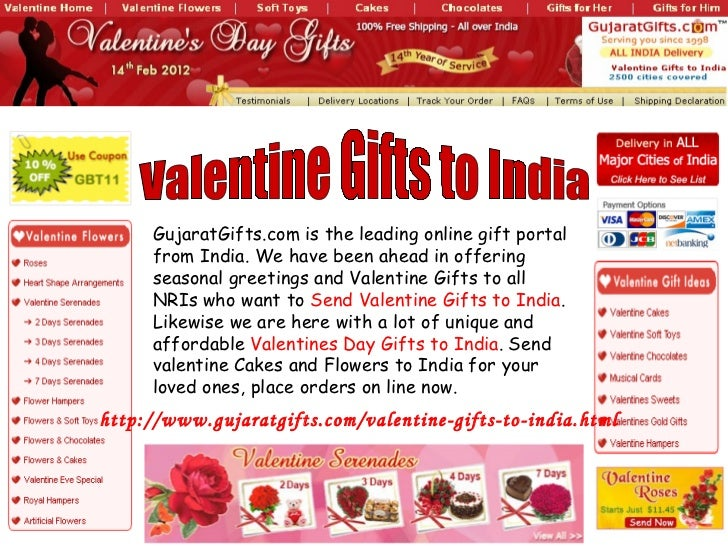 Valentine Gifts to India GujaratGifts.com is the leading online gift portal from India. We have been ahead in offering sea...