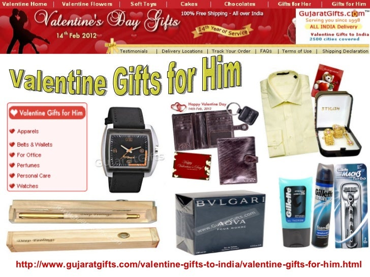 Valentine Gifts for Him http://www.gujaratgifts.com/valentine-gifts-to-india /valentine-gifts-for-him.html ...