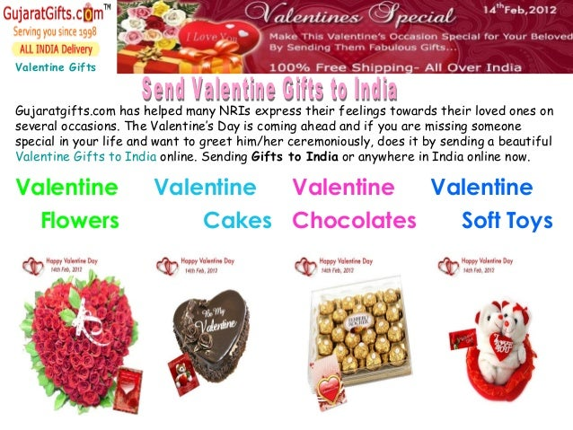 Valentine Gifts Gujaratgifts.com has helped many NRIs express their feelings towards their loved ones on several occasions...