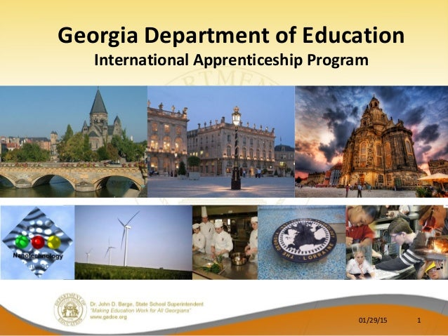 Georgia Department of Education International Apprenticeship Program 01/29/15 1