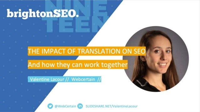 | Agenda • How translation can improve your SEO performance? • What could possibly go wrong? • How to avoid it? • How can ...