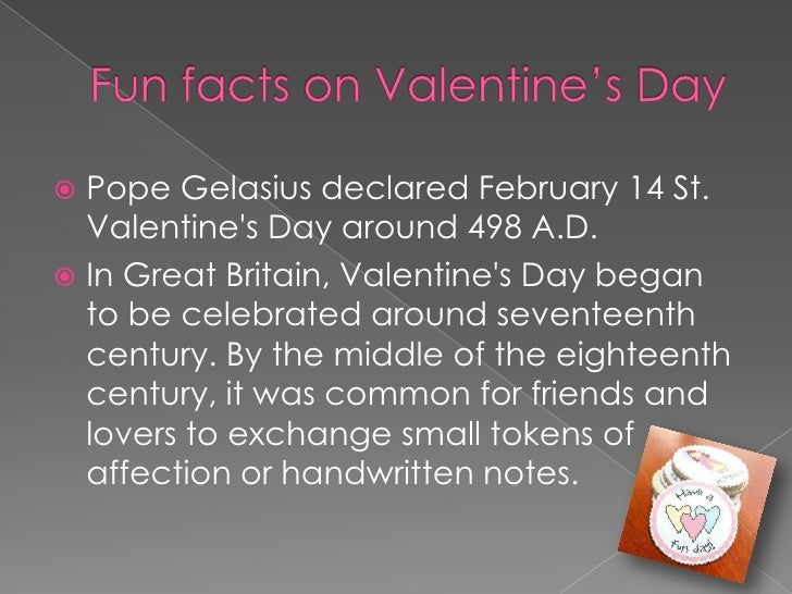 4 funfacts on valentines