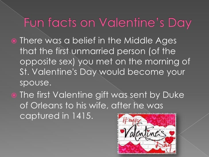 Valentine's day - fun facts.