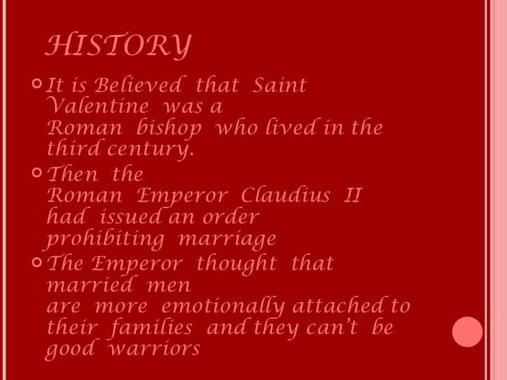 HISTORY Itis Believed That Saint ...
