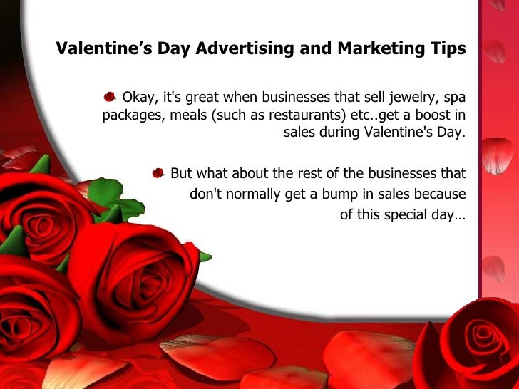 Valentine s day advertising tips and marketing ideas for Valentines day trip ideas