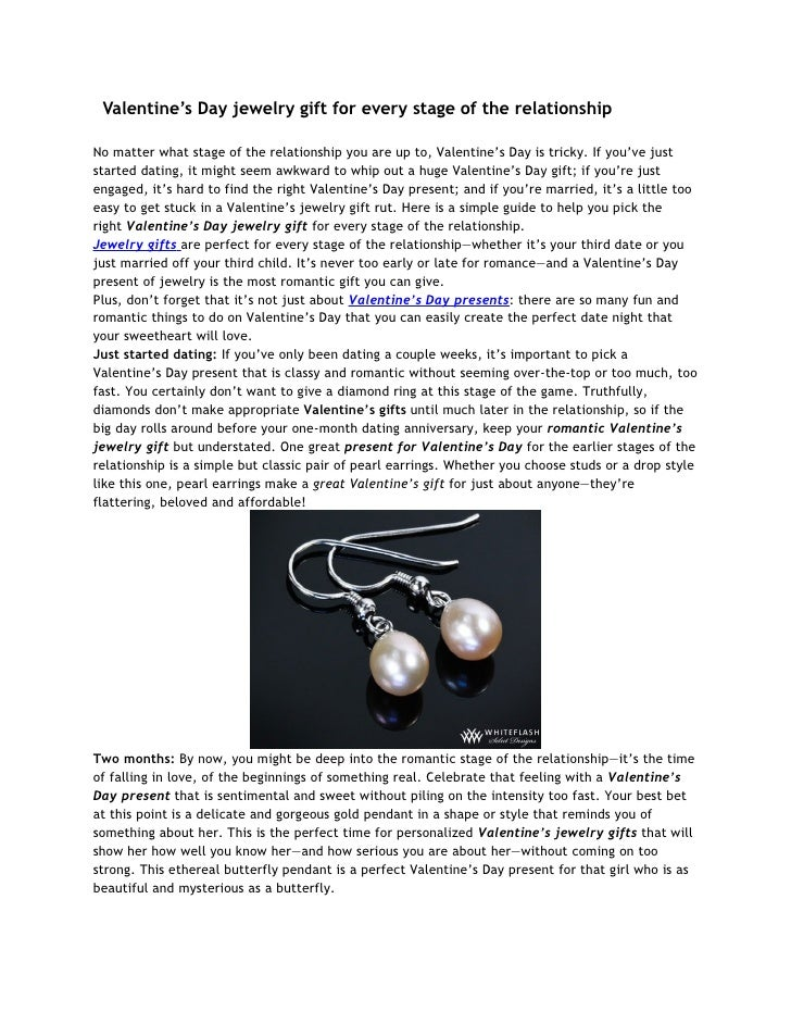 Valentine's Day jewelry gift for every stage of the relationshipNo matter what stage of the relationship you are up to, Va...