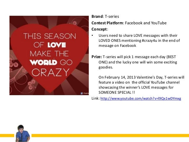 Valentine\'s day online contest around the world