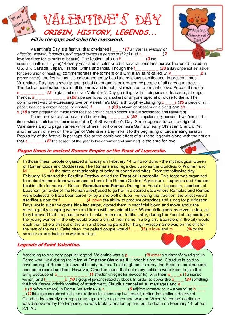 Valentines day origination