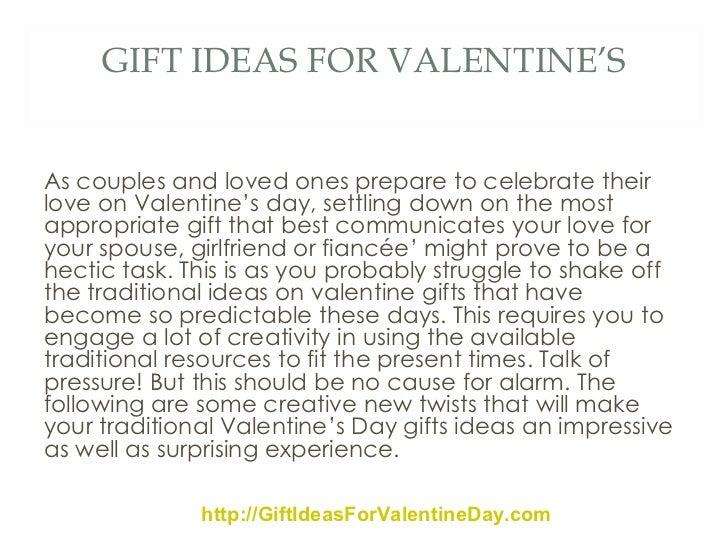 VALENTINES DAY GIFT IDEAS By ValentineGifts; 2.