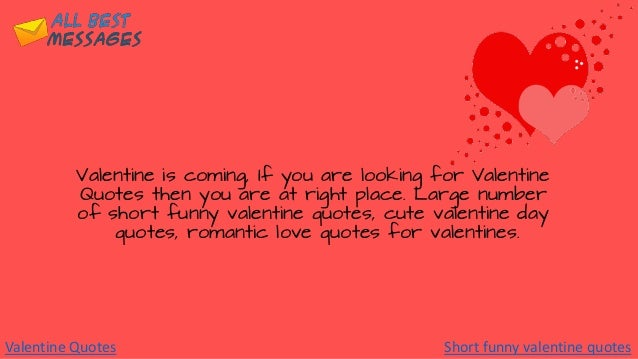 2018 Valentine Quotes - Short funny valentine quotes - Cute ...