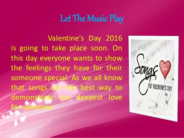 valentines day songs | the way to express your love, Ideas