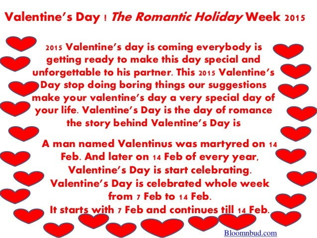 Valentineu0027s Day ! The Romantic Holiday Week 2015 2015 Valentineu0027s Day Is  Coming Everybody Is Getting ...