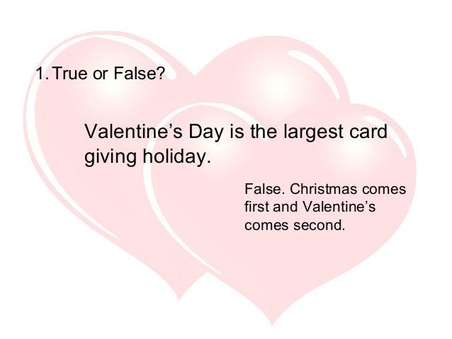 valentine's day trivia, Ideas