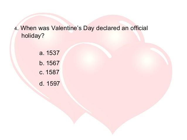 ... Interesting Valentine U0027s Day Trivia Ppt Video Online Download ...