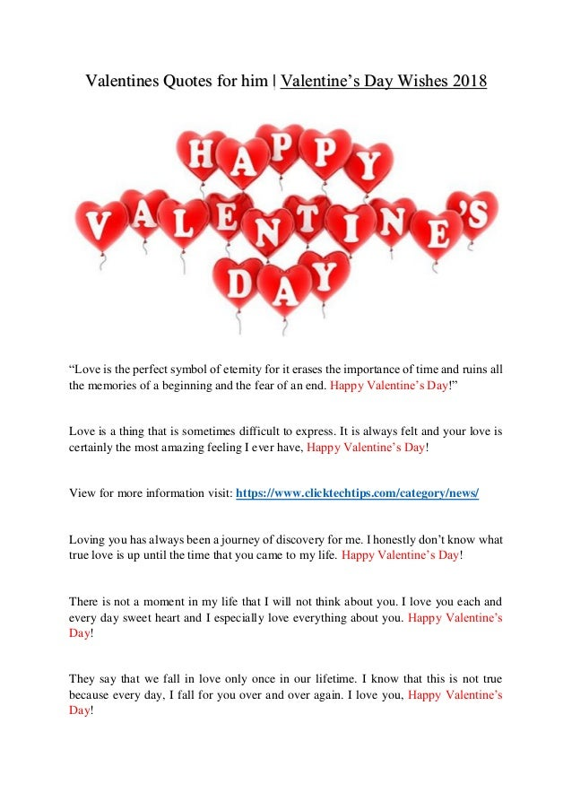 Valentines Quotes For Him Valentine S Day Wishes 2018