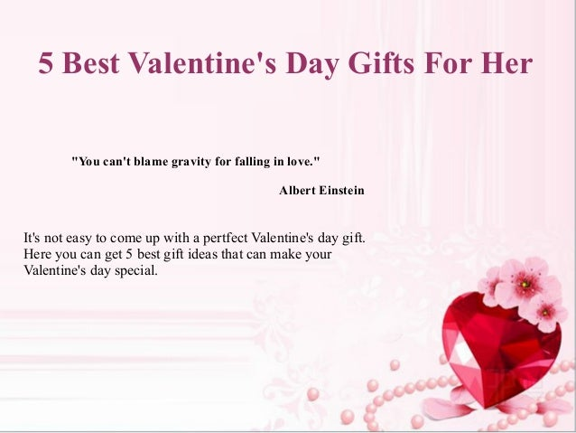 5 best valentine 39 s day gifts for her for Best gifts for valentines day