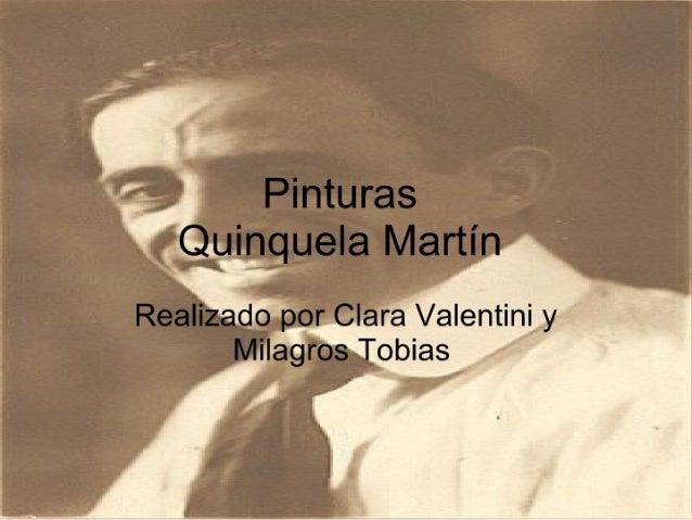 Pinturas Quniquela Martín. Valentini Tobias