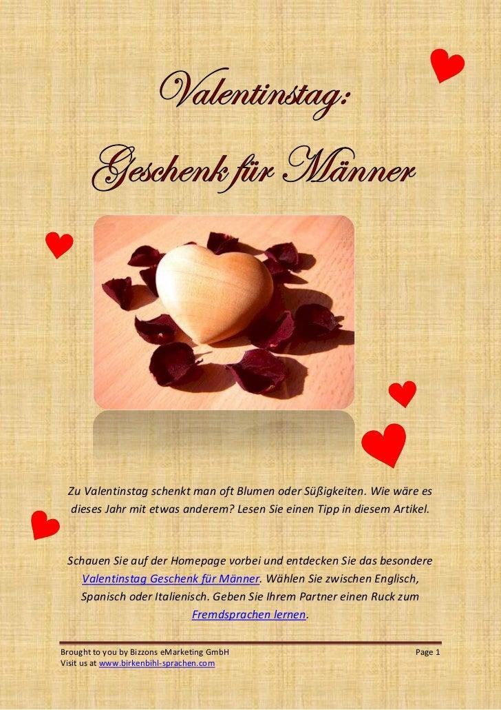 Zu Valentinstag Schenkt Man Oft Blumen Oder Süßigkeiten. Wie Wäre Es Dieses  Jahr Mit Etwas ...
