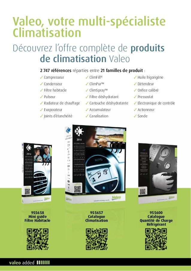 Valeo catalogue quipement garage 2014 2015 955662 fran ais for Garage specialiste climatisation