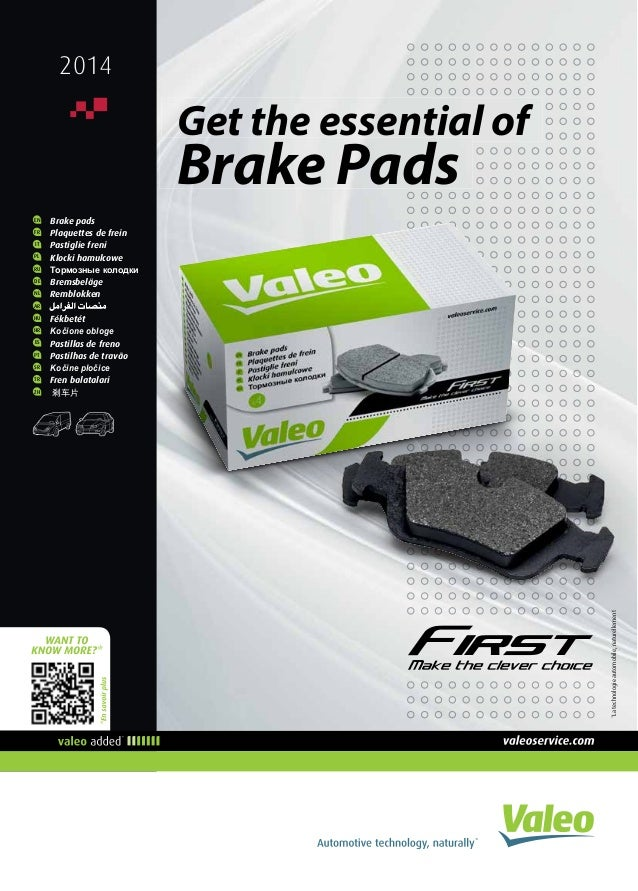 *Latechnologieautomobile,naturellement 2014 EN 	 Brake pads FR 	 Plaquettes de frein IT 	 Pastiglie freni PL 	 Klocki hamu...