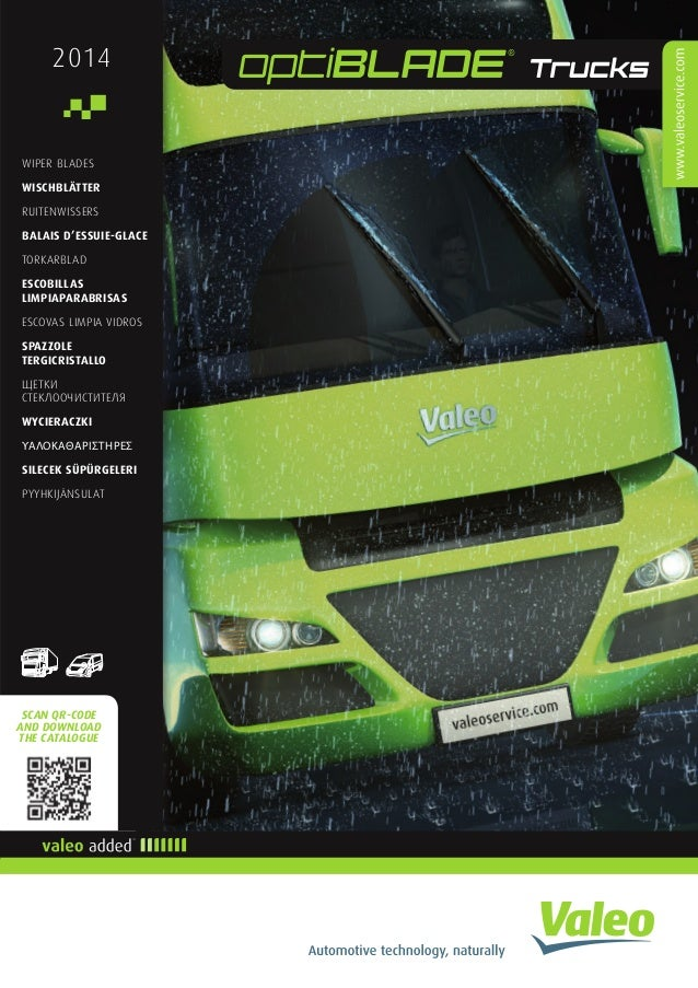 What Size Wiper Blades >> Valeo Heavy-Duty Truck Wiper Systems optiBLADE Trucks wiper blades 20…