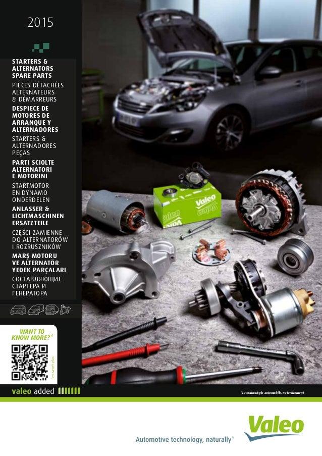 Valeo rotating starter & alternator spare parts 2015 catalogue 941374