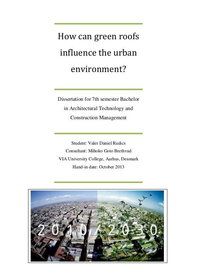 green construction dissertation